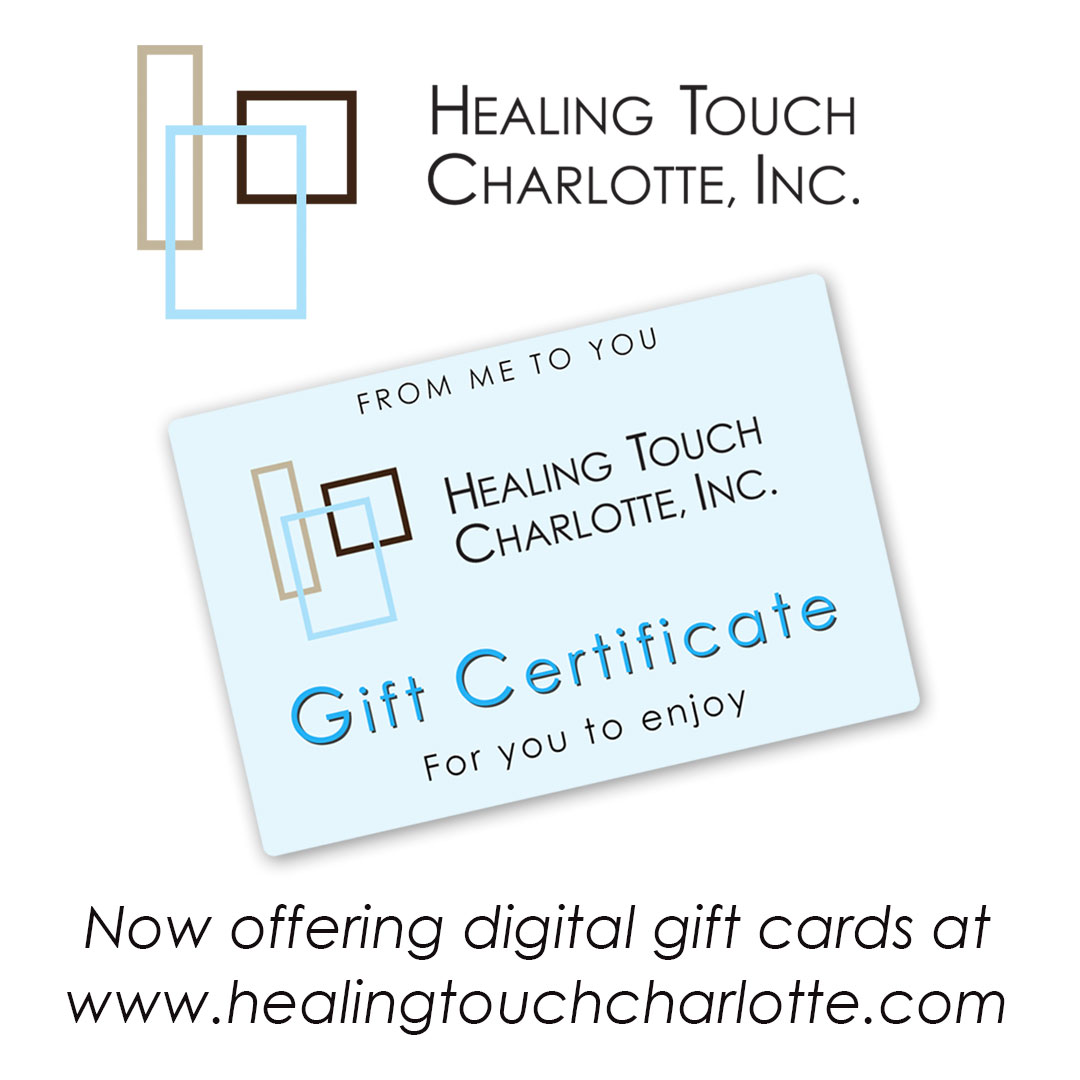 now offering digital gift cards Healing Touch Charlotte