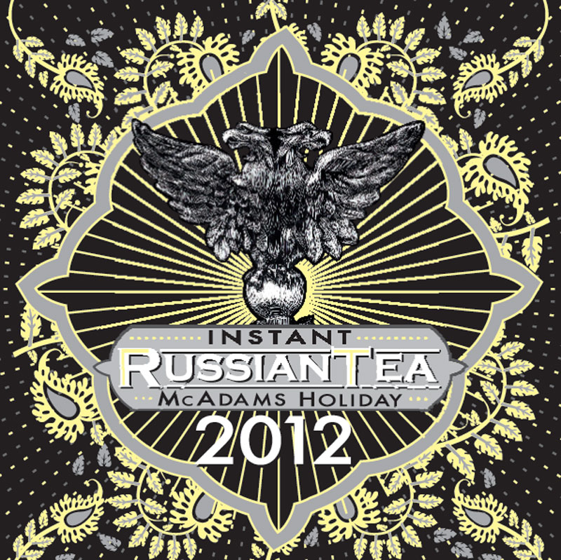 black and yellow russian tea label 2008 in adobe illustrator and scratchboard