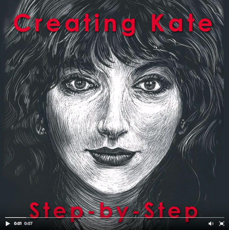 creating Kate step by step video