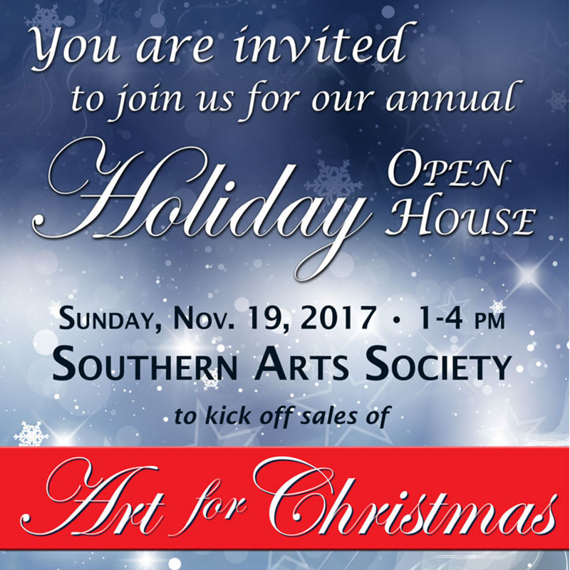 holiday header for Southern Arts Society eNewsltter