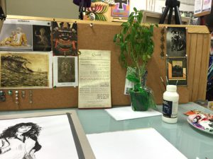 studio workspace in Charlotte Art League